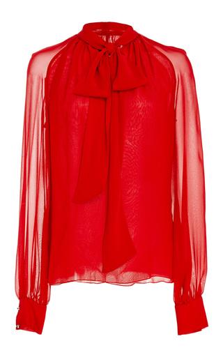 Medium giambattista valli red bow neck blouse