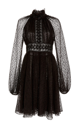 Medium giambattista valli black long sleeve a line dress