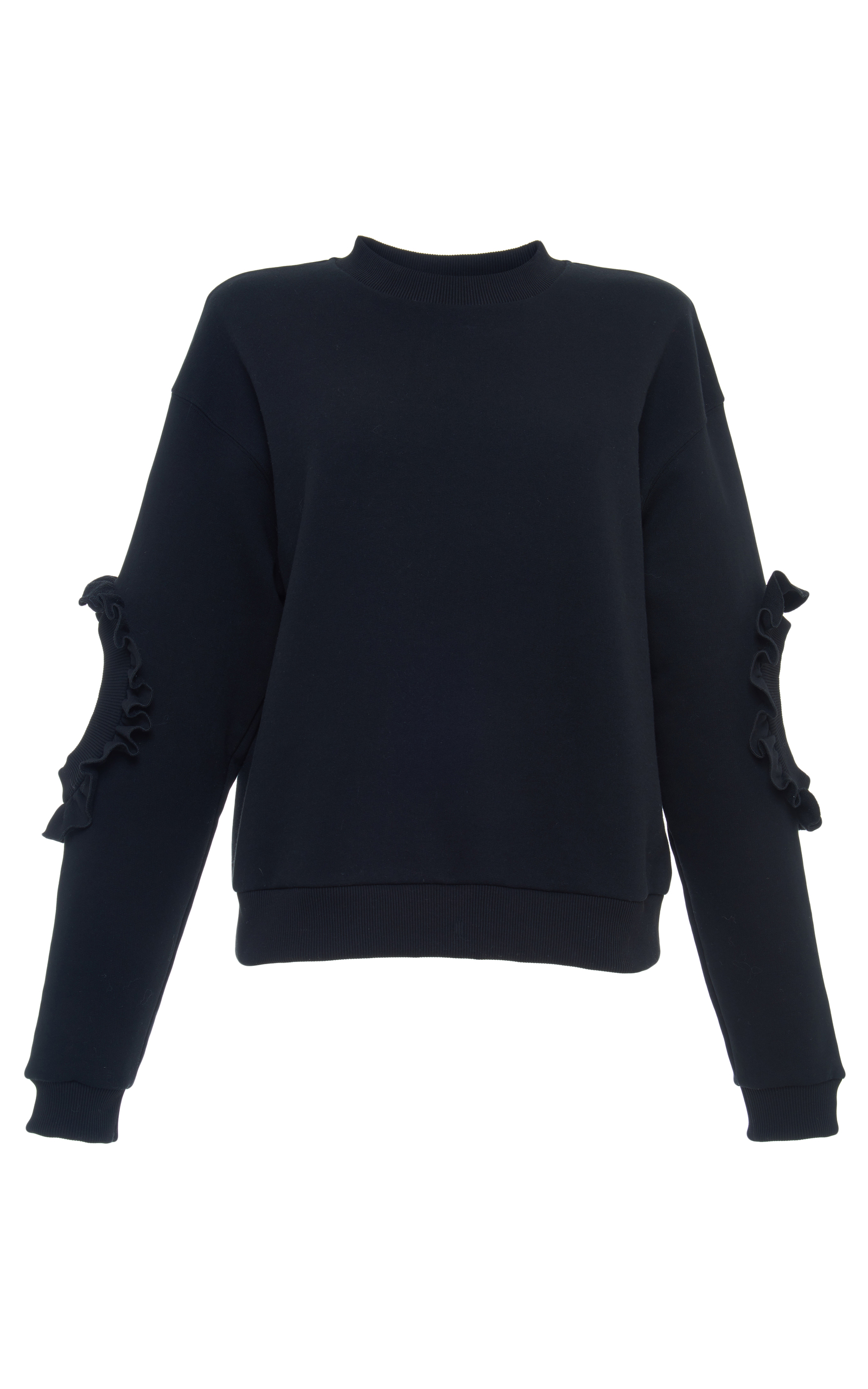1743a20352283b Ruffled Cutout Sweatshirt by Francesco Scognamiglio | Moda Operandi