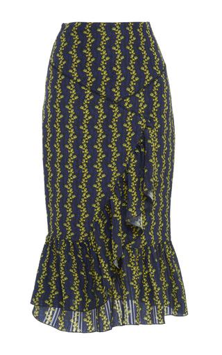 Medium francesco scognamiglio print high waisted cascading ruffle skirt