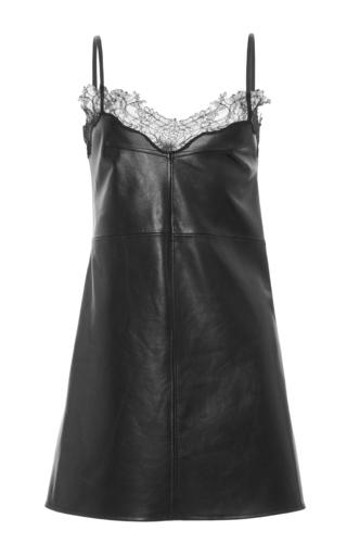 Medium francesco scognamiglio black lace trim mini dress