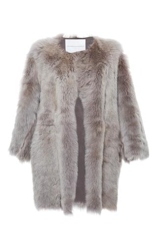 Medium francesco scognamiglio neutral long sleeve reversible shearling coat