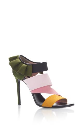 Medium emilio pucci green ruffle heels