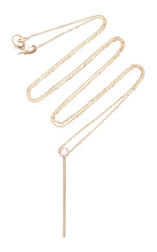 Medium white space gold colonna 14k gold diamond necklace