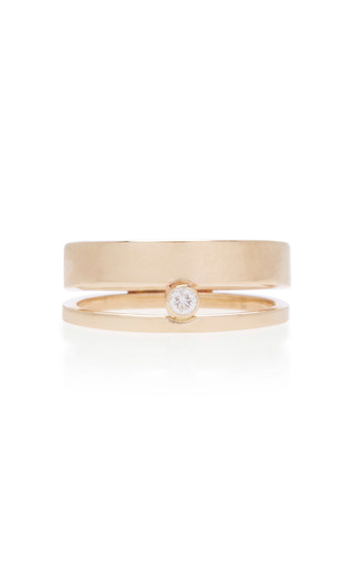 Medium white space gold 14k gold diamond ring
