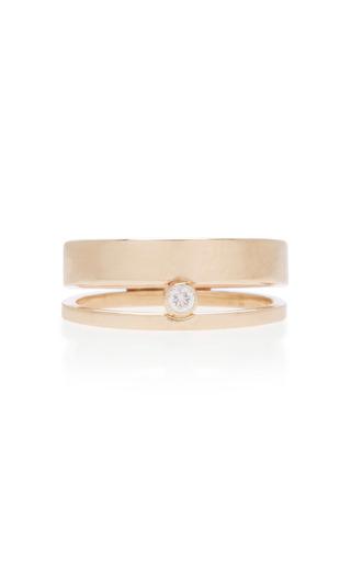 Medium white space gold 14k gold diamond ring