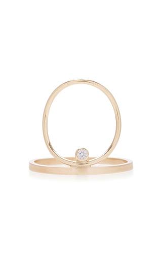 Medium white space gold 14k gold diamond ring 2