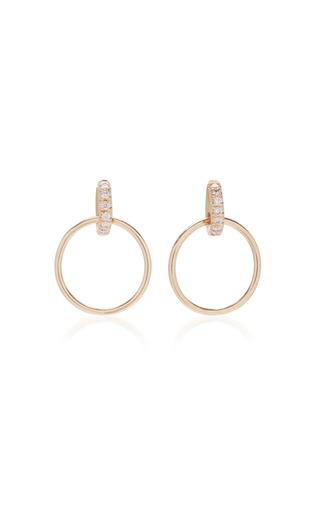 Medium white space gold vita 14k gold hoop earrings