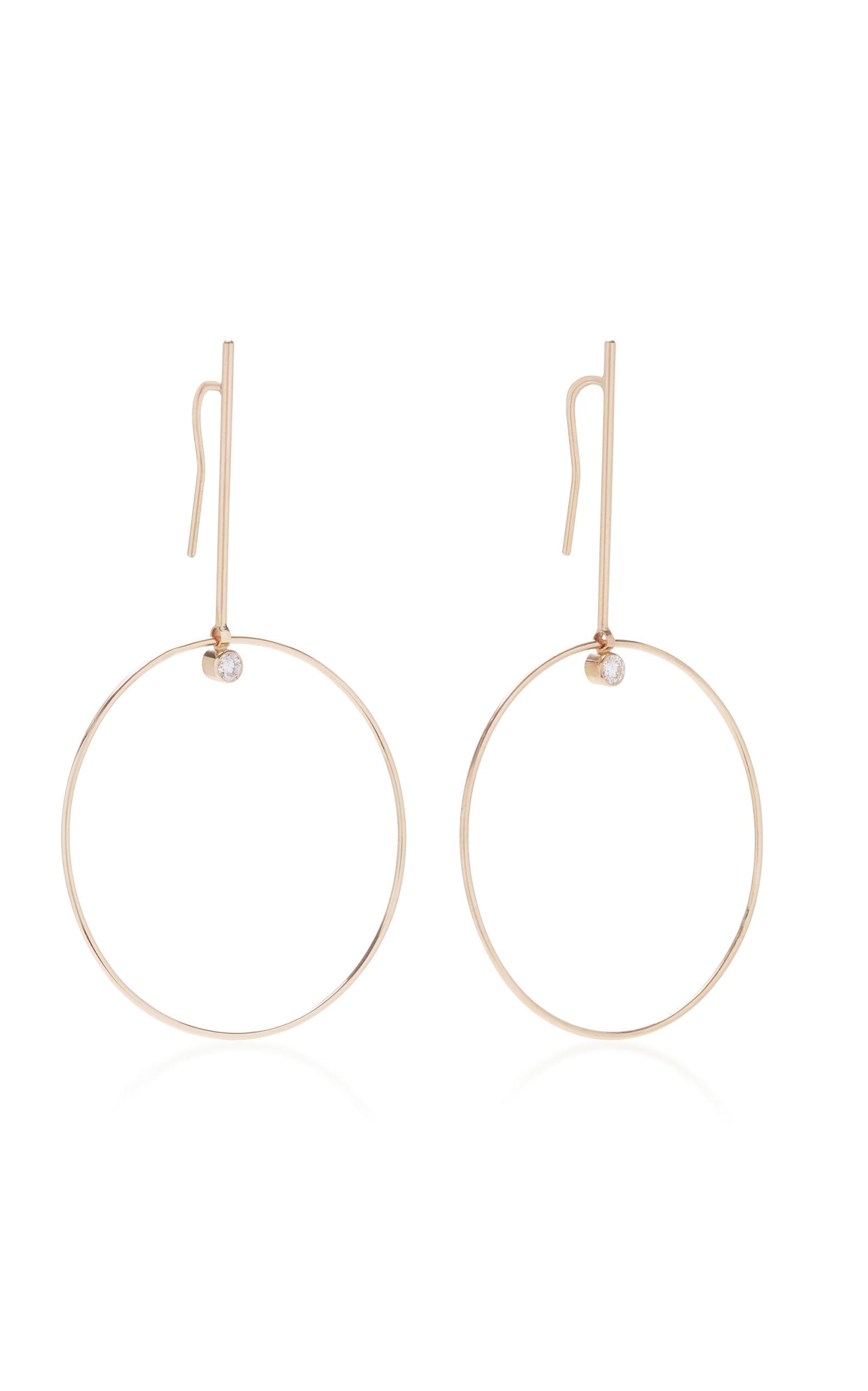 Sezio 14K Gold Diamond Earrings White/Space yqaeFbooxj