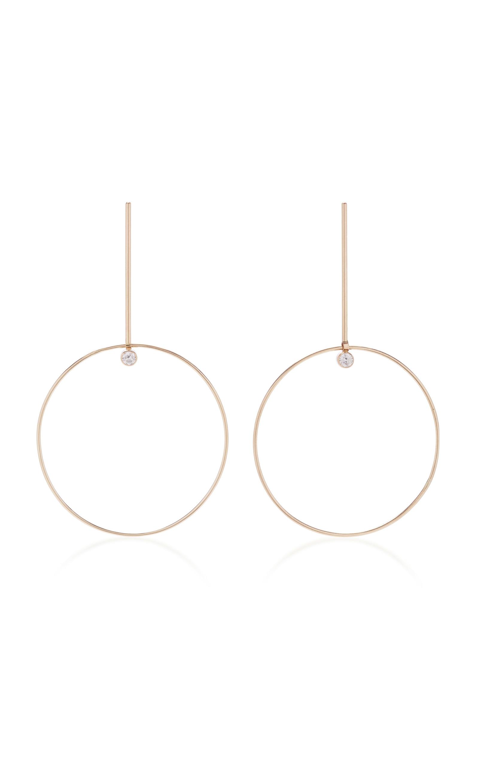 WHITE/SPACE SEZIO 14K GOLD DIAMOND EARRINGS