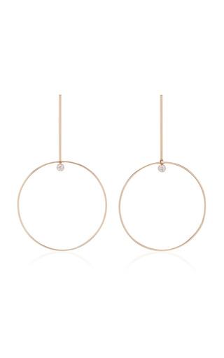 Medium white space gold 14k gold diamond earrings