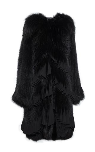 Medium givenchy black fox and chiffon coat