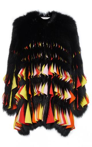 Medium givenchy multi fox and chiffon coat 2