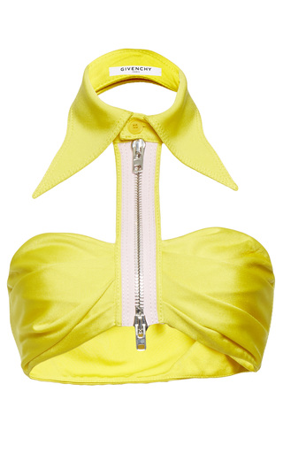 Medium givenchy yellow compact viscose jersey top