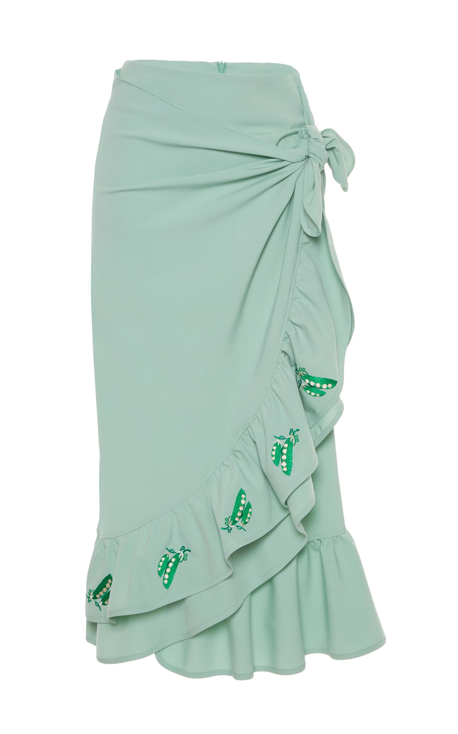 marsiglia ruffle midi skirt by vivetta moda operandi
