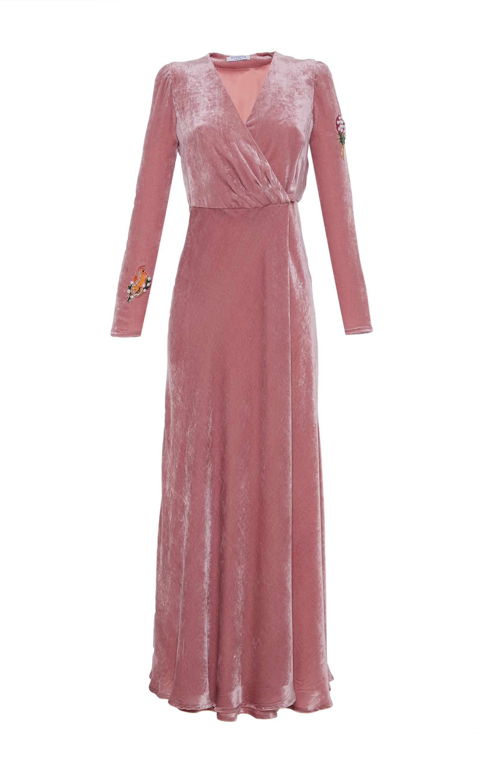 Città Del Guatemala Embellished Velvet Midi Dress Vivetta Cheap Sale Footlocker 7b38Dkcyd