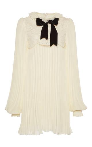 Medium philosophy di lorenzo serafini white accordian pleated lace mini dress