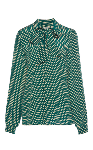 Medium philosophy di lorenzo serafini green star printed blouse