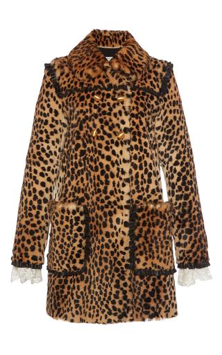 Medium philosophy di lorenzo serafini animal double breasted animal print fur coat