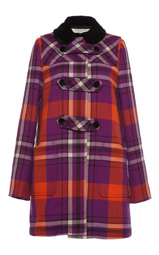 Medium philosophy di lorenzo serafini plaid contrasting collar plaid coat