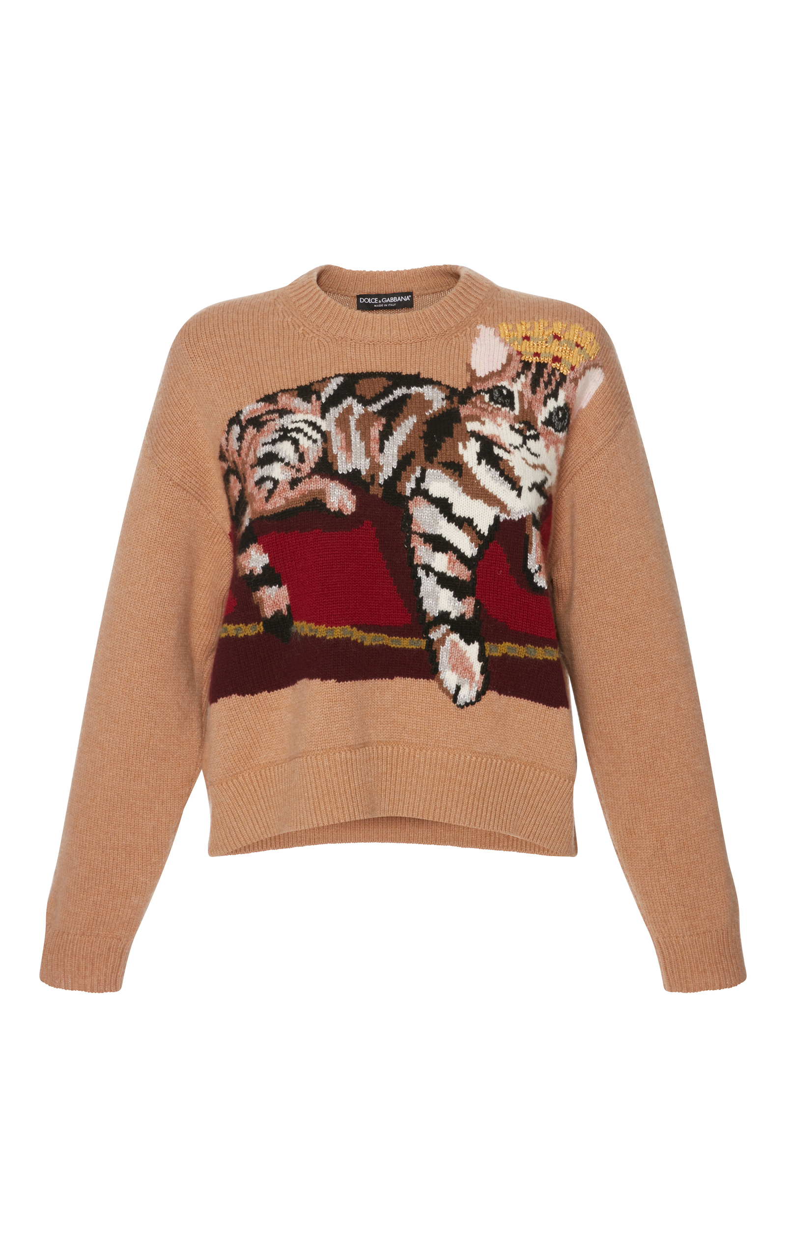 Zambia Intarsia Cashmere-Blend Sweater by Dolce & Gabbana | Moda Operandi
