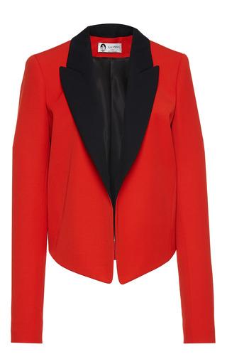 Medium lanvin red gabardine smoking jacket