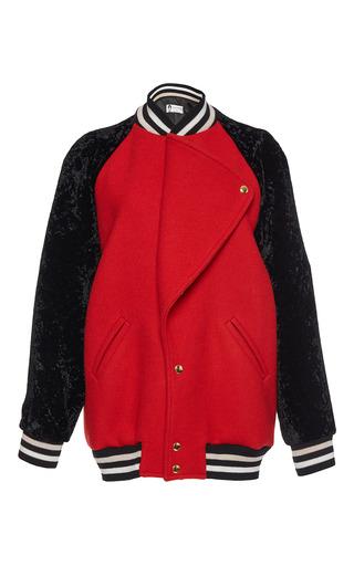 Medium lanvin red teddy bomber jacket