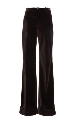 Medium lanvin brown velvet wide legged trouser