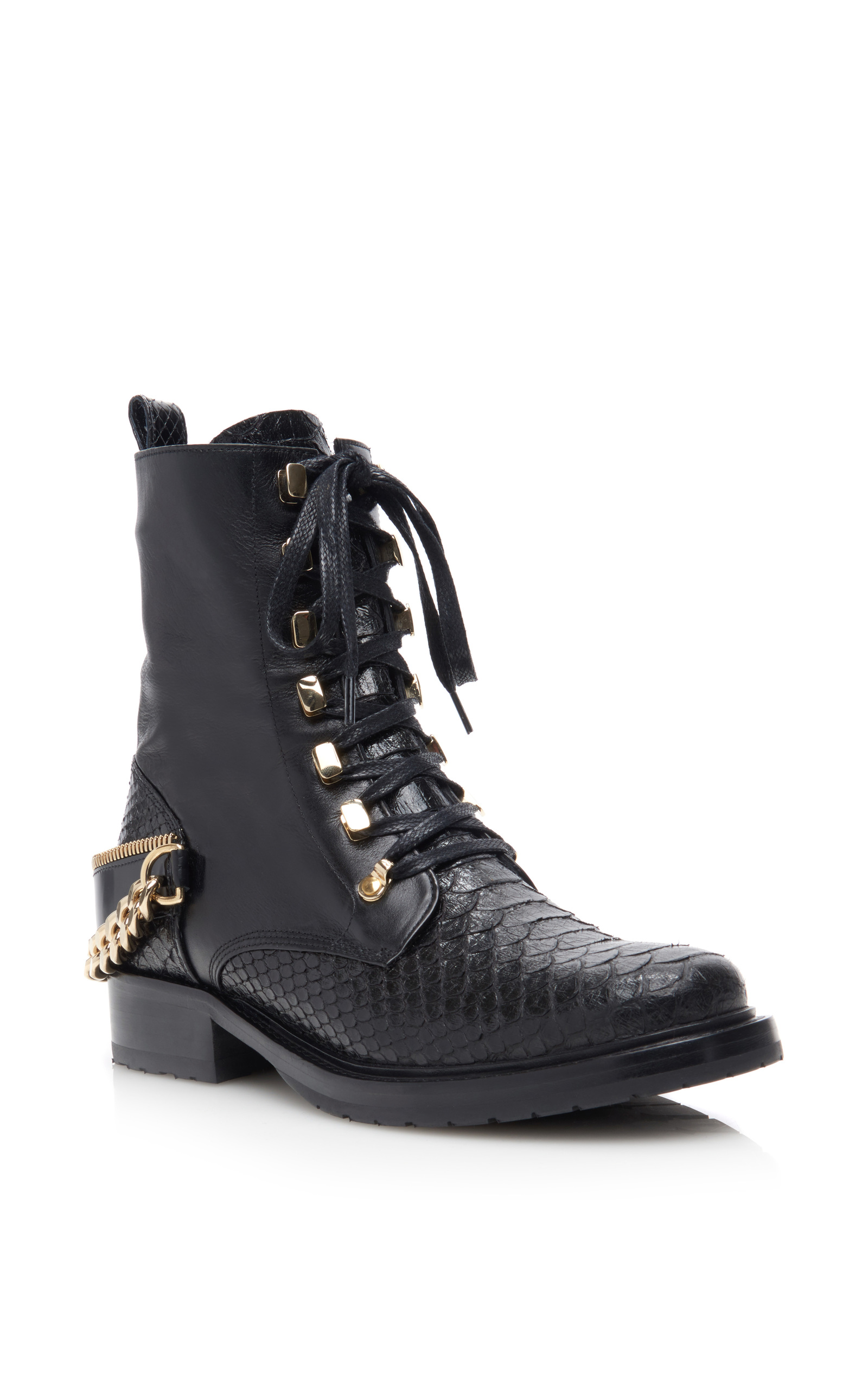 Lanvin Leather Lace-Up Boots