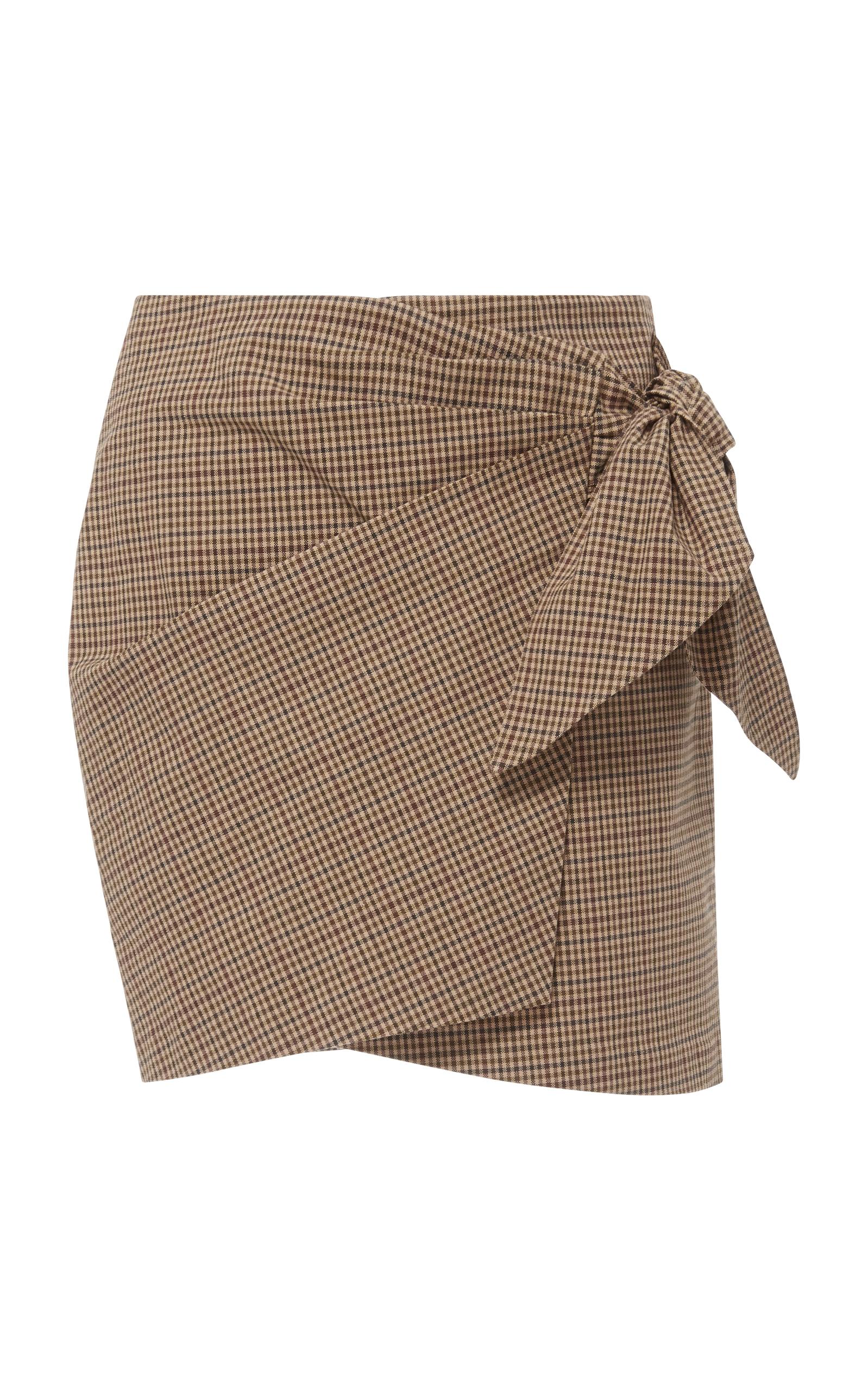 874f1dc598 Ninon Gingham Wrap Mini Skirt by Isabel Marant Étoile | Moda Operandi