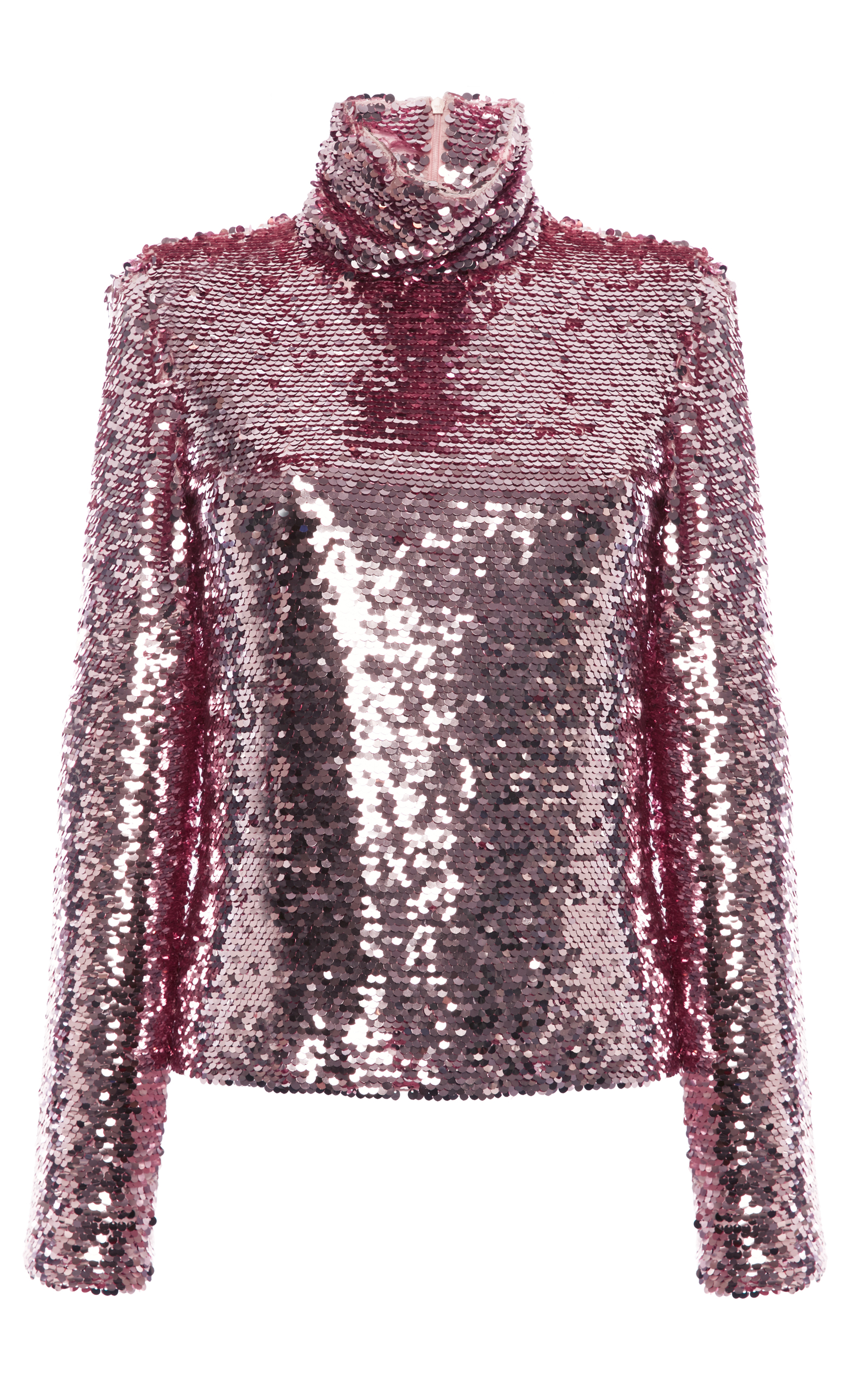 Sequin Turtleneck Top By MSGM