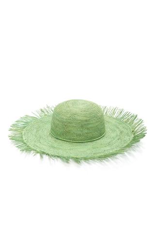 Medium sensi studio green lady majorca frayed toquilla straw sunhat