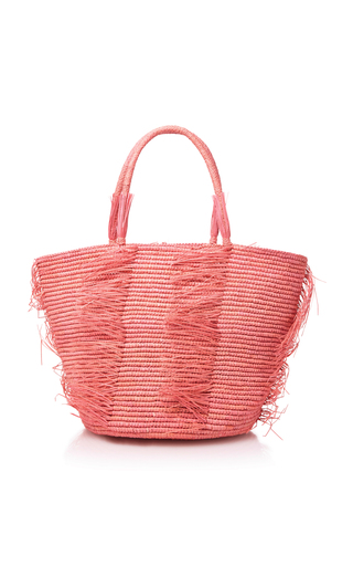 Medium sensi studio pink frayed medium tote