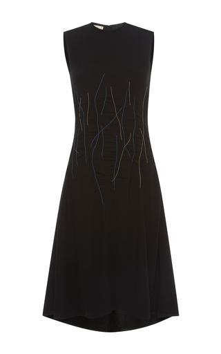 Medium marni black sleeveless a line dress