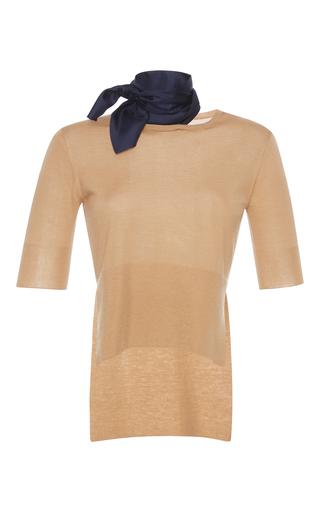 Medium marni neutral short sleeve crew neck sweater 2
