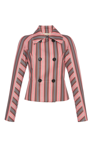 Medium marni pink striped double breasted jacket
