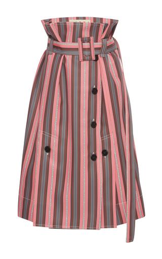 Medium marni pink paper bag waist striped skirt