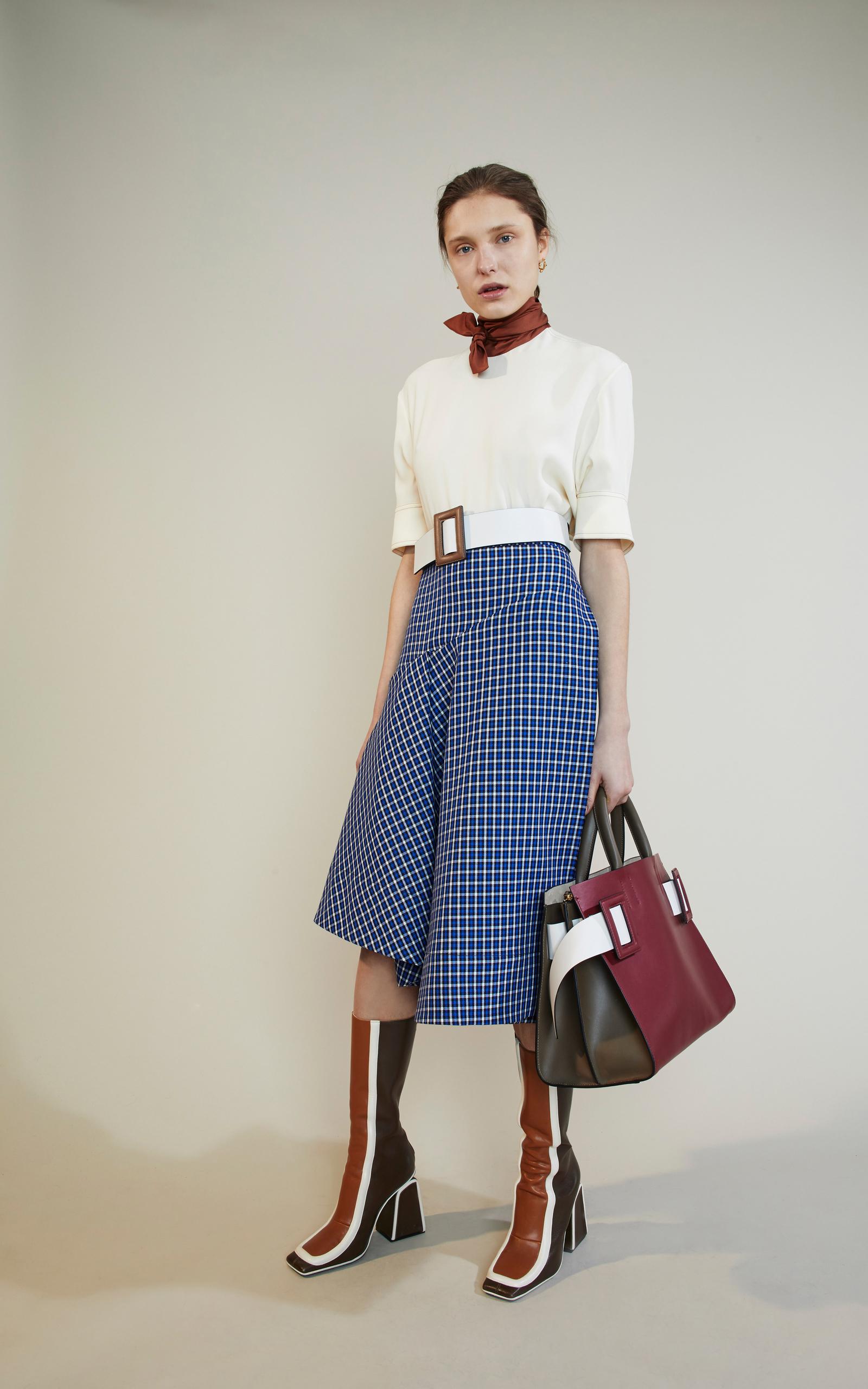 High Waisted Checkered Skirt by Marni | Moda Operandi