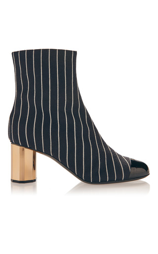 Medium marco de vincenzo black white striped boot 2