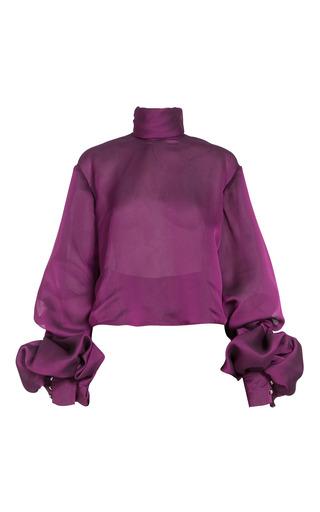 Medium lana mueller purple mavia balloon sleeve blouse