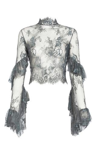 Medium lana mueller grey nastasia lace blouse