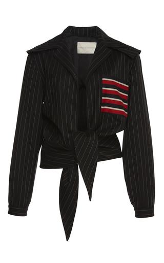 Medium marco de vincenzo stripe pinstriped wool blouson