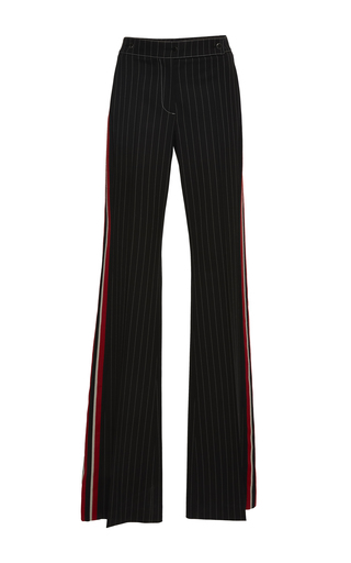 Medium marco de vincenzo stripe pinstriped wool wide leg trousers