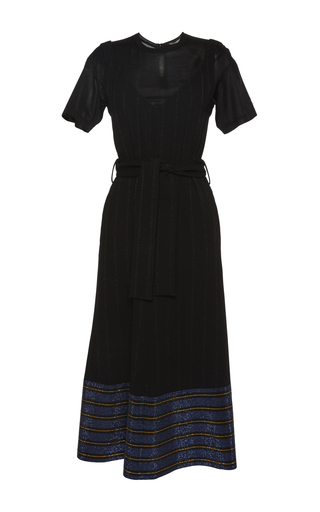 Medium marco de vincenzo black belted t shirt dress