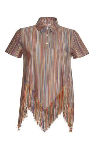 Medium marco de vincenzo multi fringe jersey polo