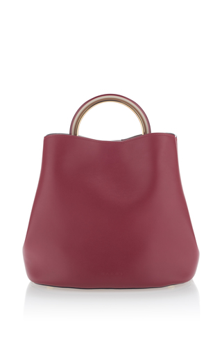 Medium marni red leather shoulder bag 2