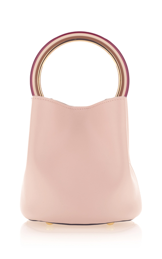 Medium marni pink leather shoulder bag 3