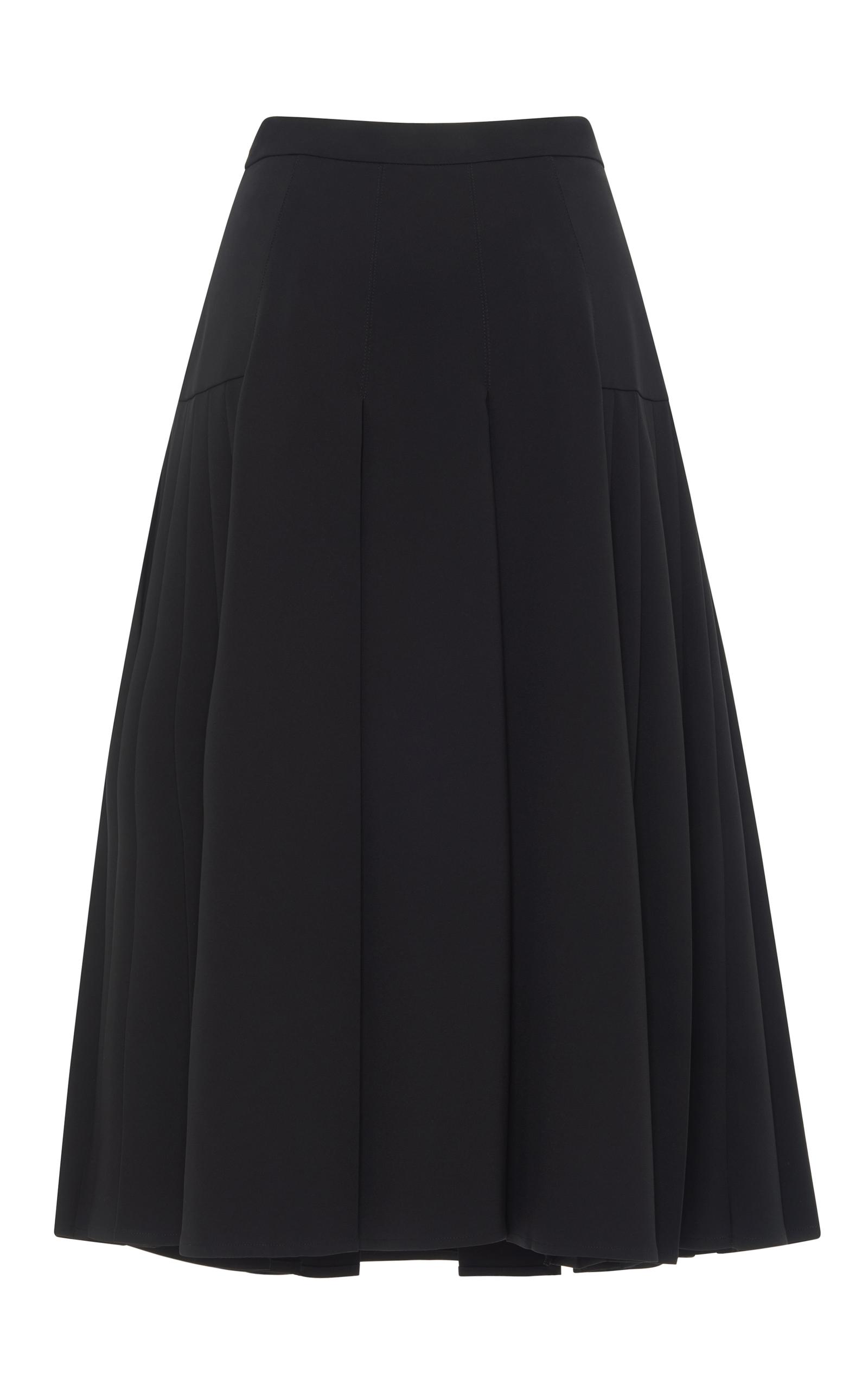 Pleated Knee Length Skirt by Rossella Jardini | Moda Operandi