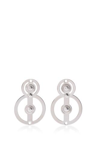 Medium marni silver double circle earrings
