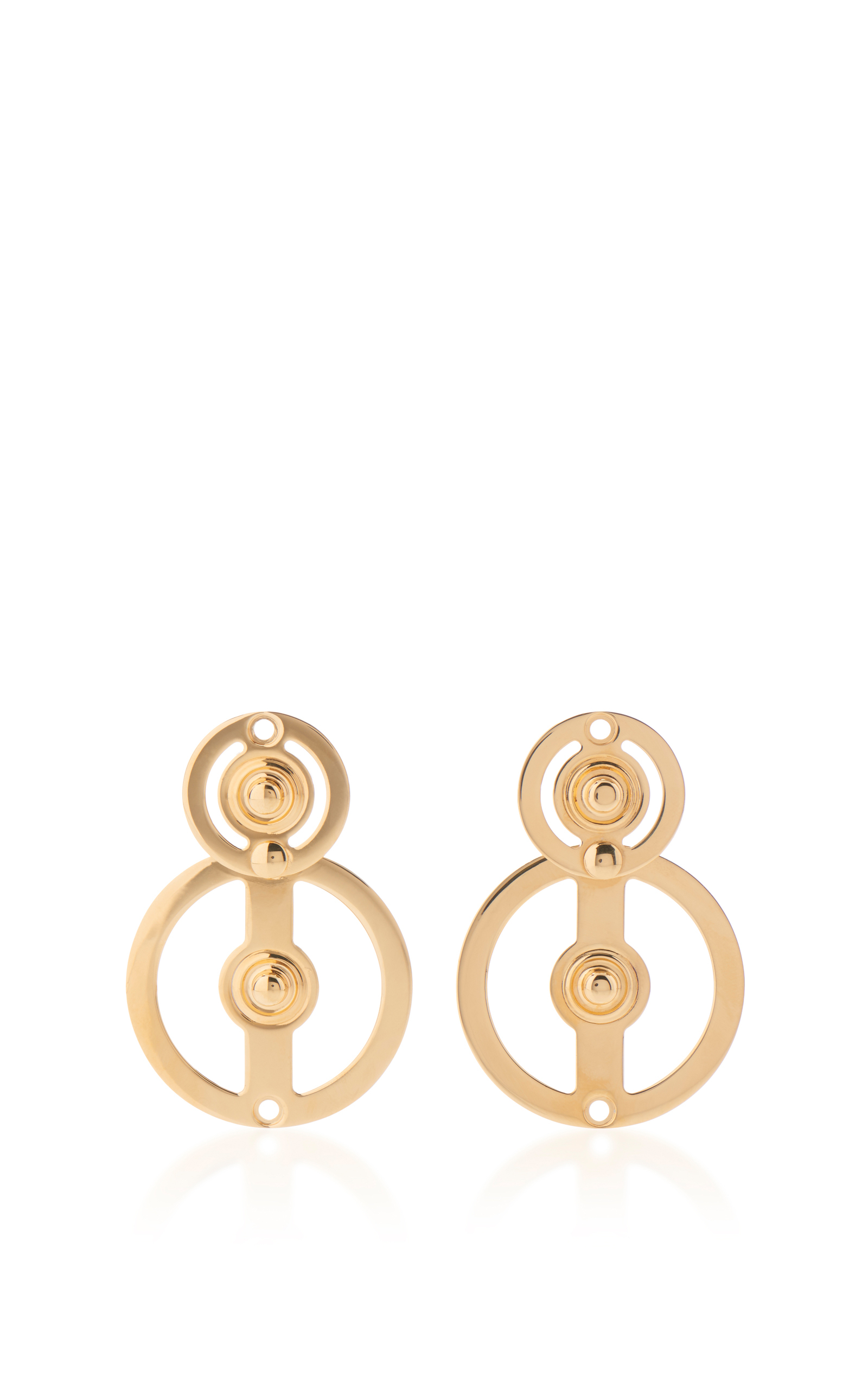 chick with earring pink cubic mirror circle zirconia earrings gold small product